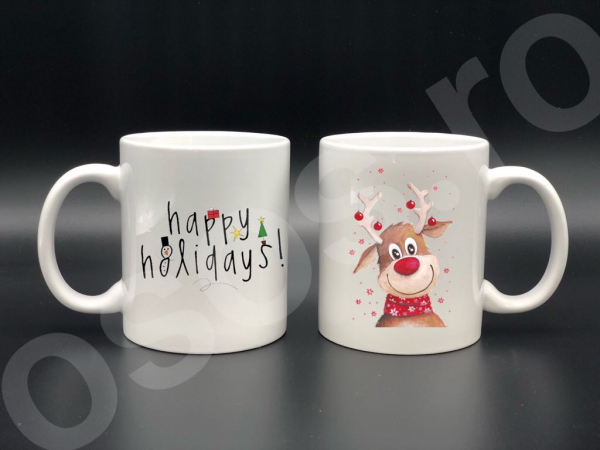 Set căni personalizate -Happy holidays 0