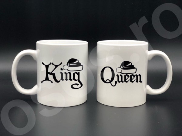Set căni personalizate - King & Queen 0