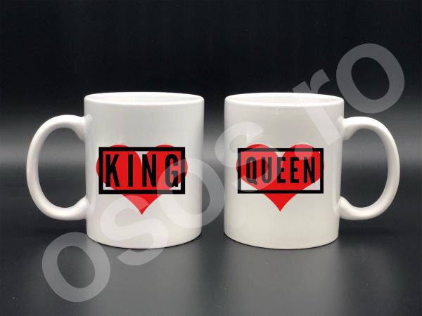 Set căni personalizate - King&Queen 0