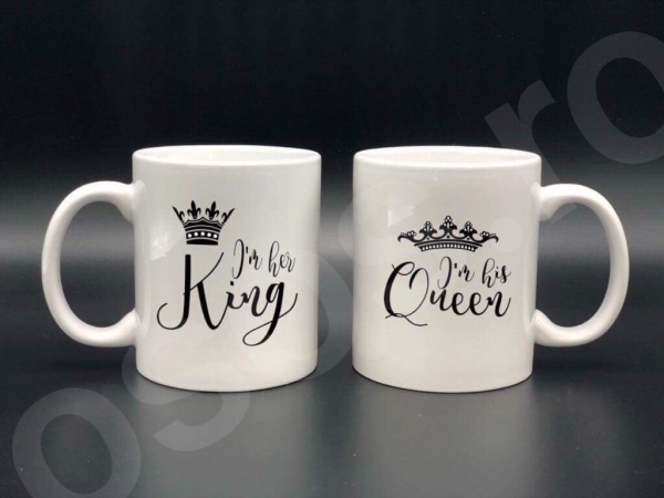 Set căni personalizate - King & Queen 0
