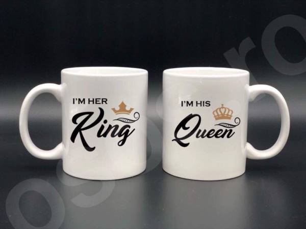 Set căni personalizate - King Queen