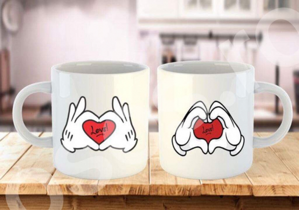 Set căni personalizate - From the heart