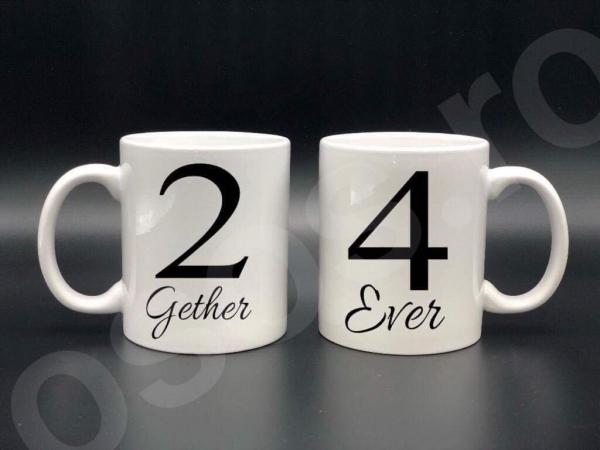 Set căni personalizate - 2gether 4ever 0