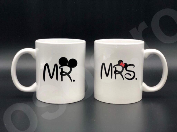 Set căni personalizate - Mr. and Mrs. 0
