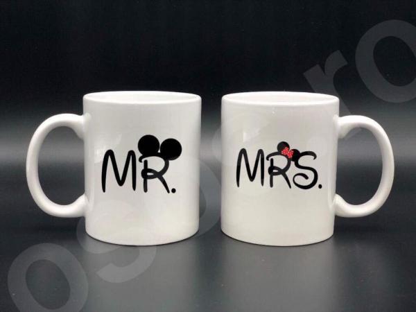 Set căni personalizate - Mr. and Mrs. 0
