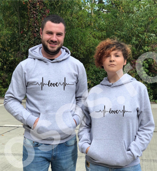 Set hanorace personalizate - My love 0