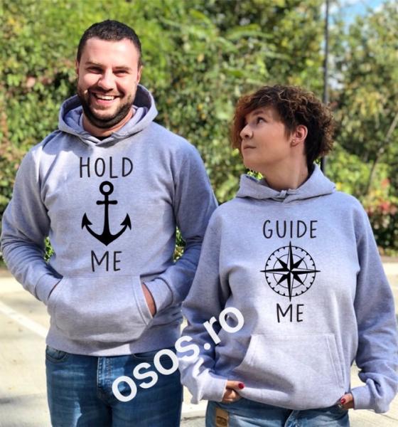 Set hanorace cuplu - Hold me. Guide me 0