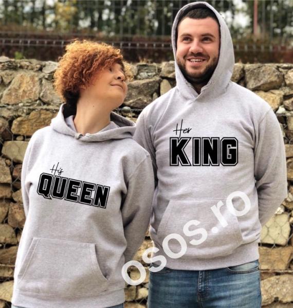 Set hanorace cupluri - His Queen. Her King 0
