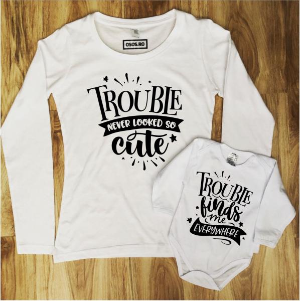 Set mama fiica/ Set mama fiu - Trouble 0