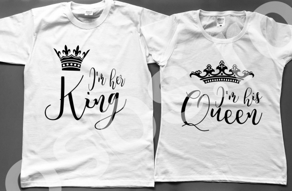 Set tricouri - King & Queen. 0