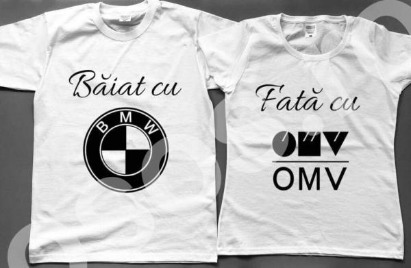 Set tricouri - Băiat cu BMW. Fată cu OMV. 0
