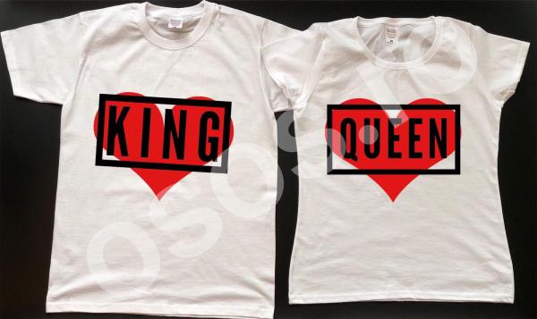 Set tricouri personalizate - King & Queen 0