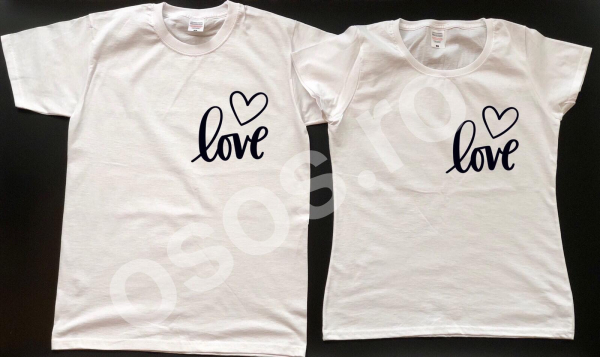 Set tricouri personalizate - Love 0