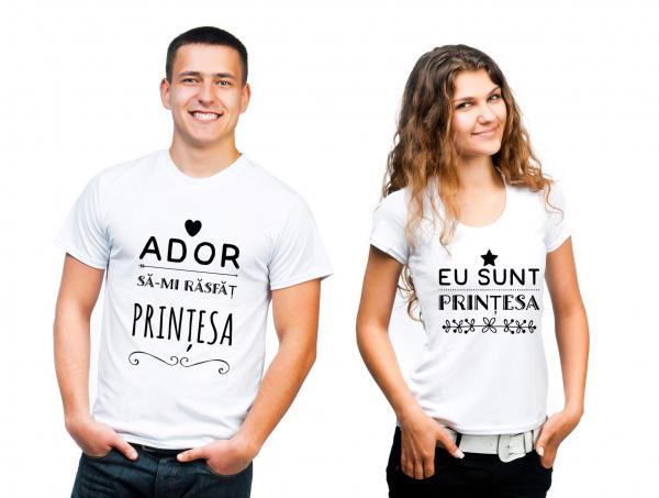 Set tricouri personalizate - Ador să-mi răsfăţ prinţesa. Eu sunt prinţesa
