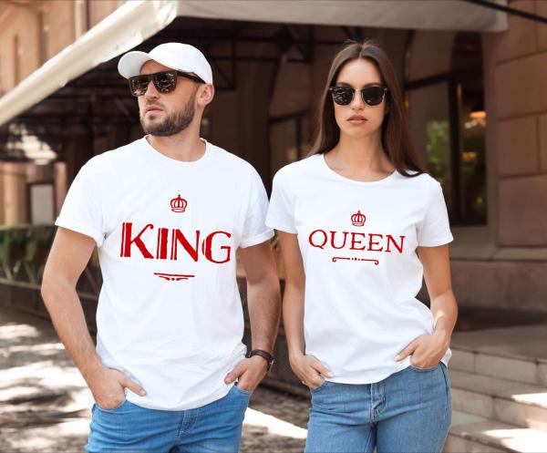 Tricouri cupluri - King & Queen 0