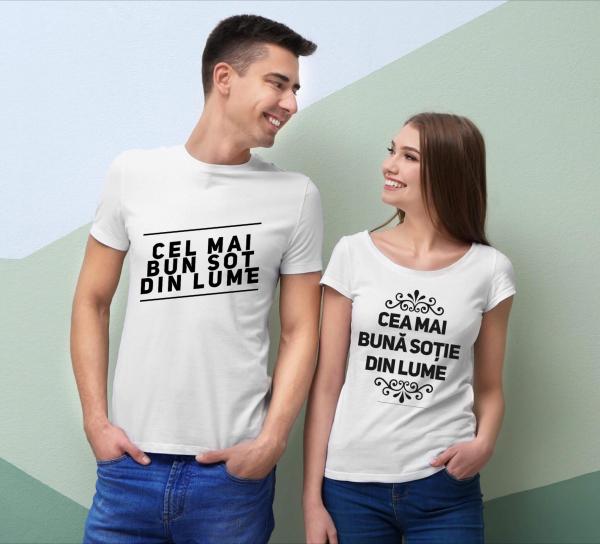 Tricouri cuplu - Cel mai bun  soţ din lume. Cea mai bună soţie din lume 0