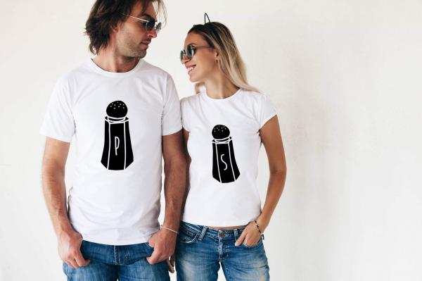 Tricouri cuplu - Sare şi piper 0