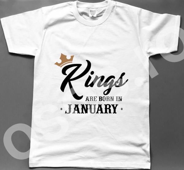 Tricou bărbătesc - Kings are born in... 0