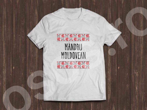 Tricou bărbătesc - Mândru Moldovean 0