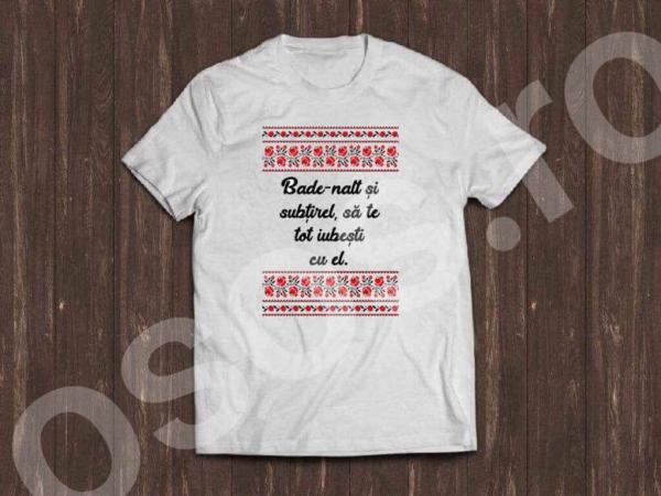 Tricou bărbătesc - Bade-nalt şi subţirel 0