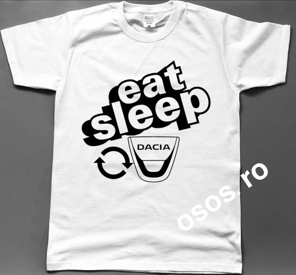 Tricou barbatesc - Eat Sleep Dacia Repeat 0