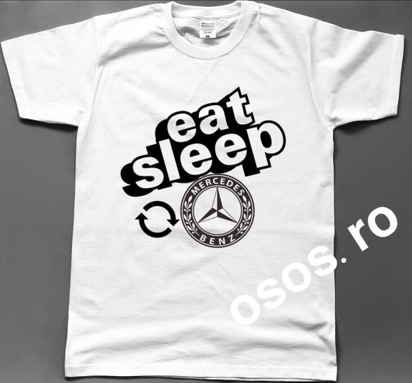 Tricou barbatesc - Eat Sleep Mercedes Repeat 0