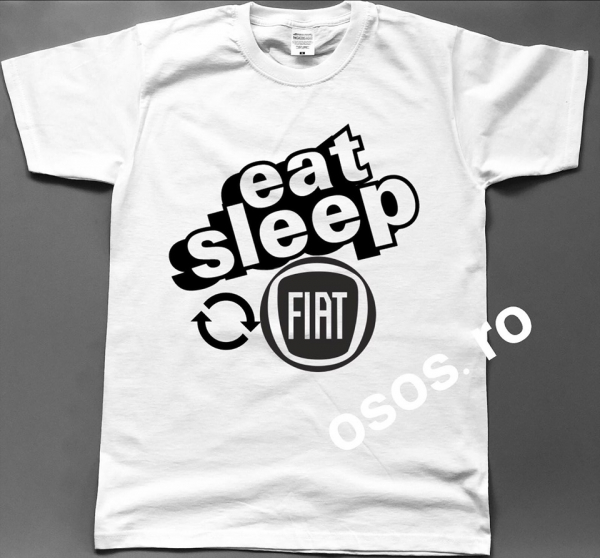 Tricou barbatesc - Eat Sleep Fiat Repeat 0