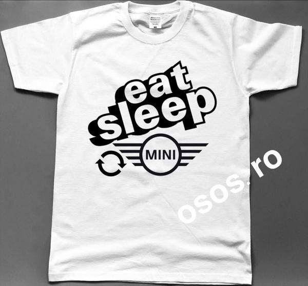 Tricou barbatesc - Eat Sleep Mini Repeat 0