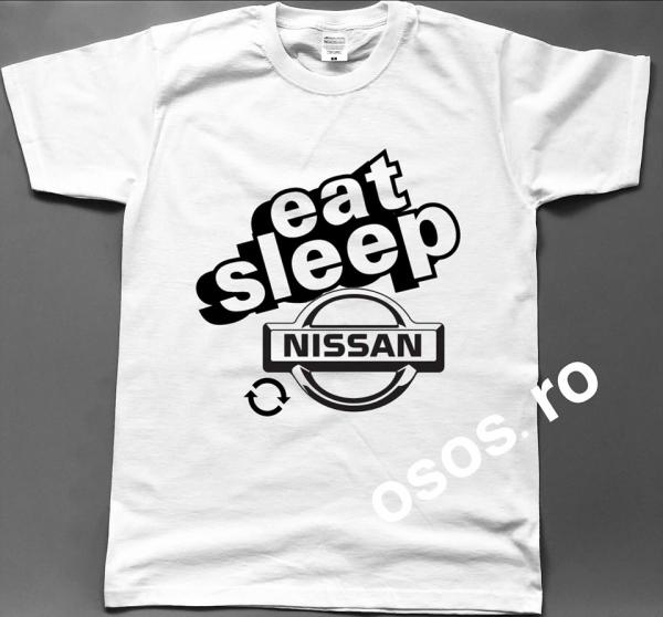 Tricou barbatesc - Eat Sleep Nissan Repeat 0