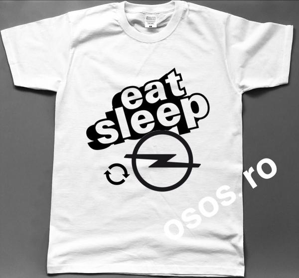 Tricou barbatesc - Eat Sleep Opel Repeat 0