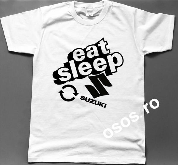 Tricou barbatesc - Eat Sleep Suzuki Repeat 0
