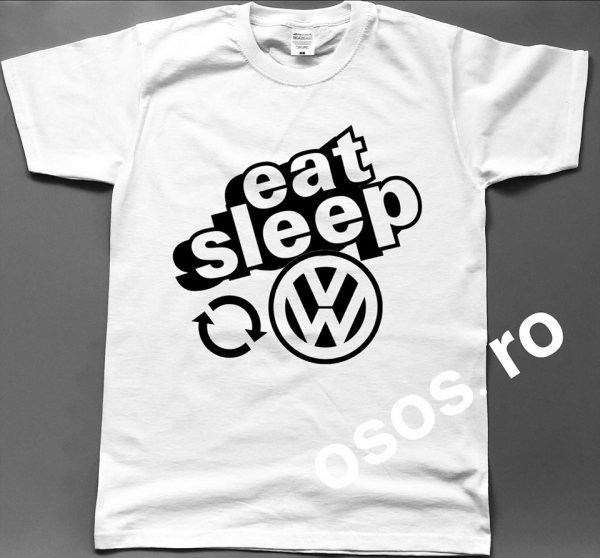 Tricou barbatesc - Eat Sleep Volkswagen Repeat 0
