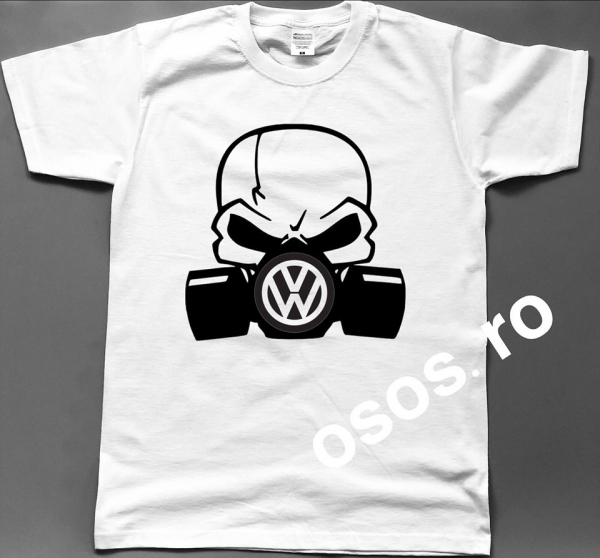 Tricou barbatesc - Gas mask Volkswagen 0
