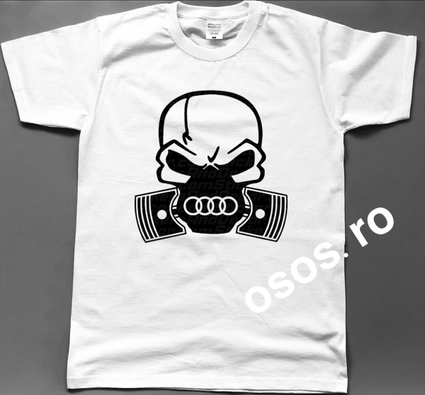 Tricou barbatesc - Gas mask Audi 0