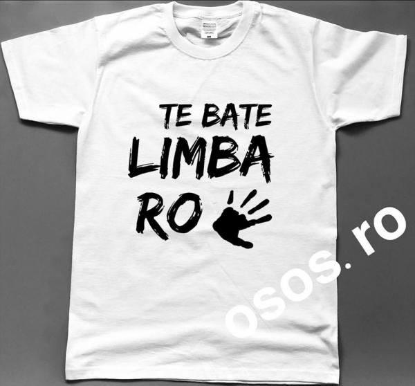 Tricou barbatesc - Te bate limba Romana 0