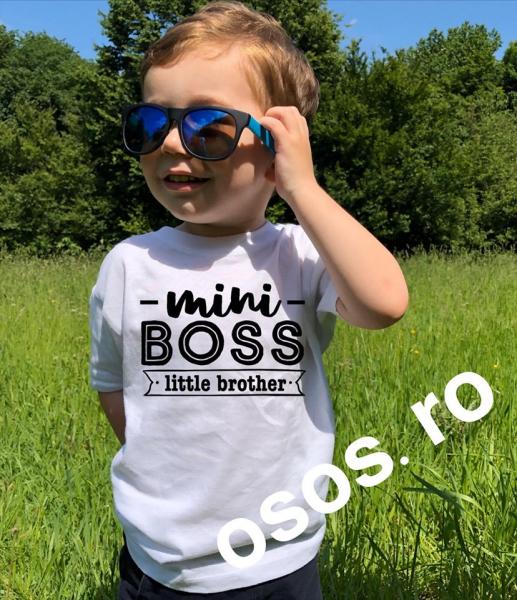 Tricou copii - Mini Boss. Little brother 0