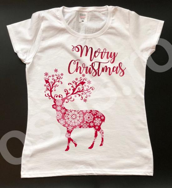 Tricou damă - Merry Christmas. 0