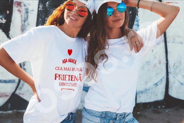Tricou damă personalizat - Aşa arată cea mai bună prietenă din lume [0]