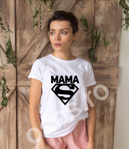 Tricou damă personalizat - Super mama 0