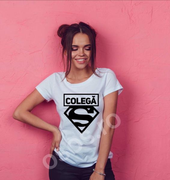 Tricou damă personalizat - Super colegă 0