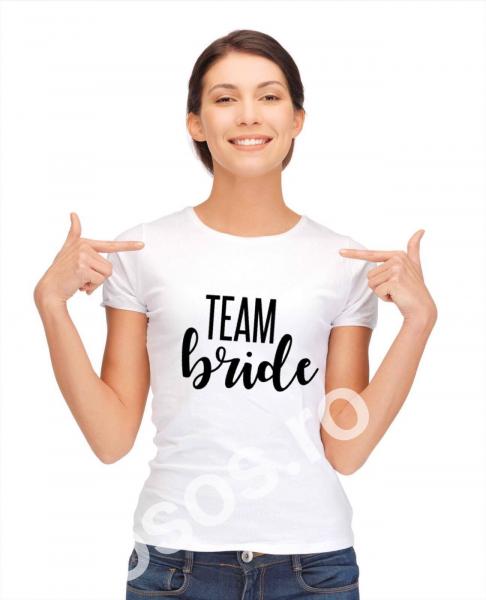 Tricou damă personalizat Team Bride 0