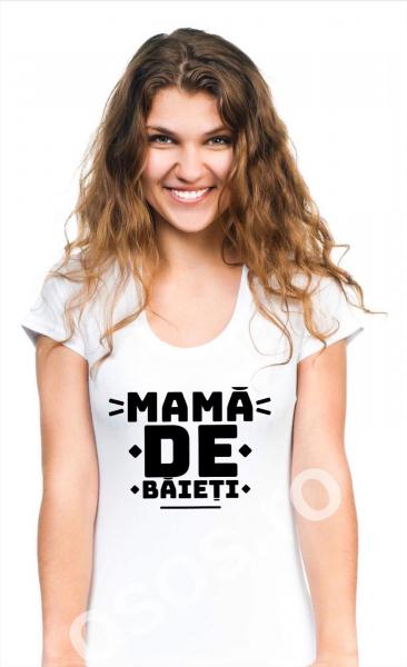 Tricou damă personalizat - Mamă de băieţi 0