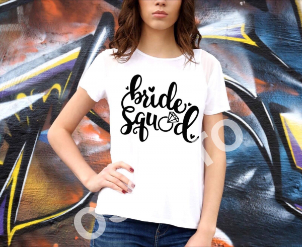 Tricou damă personalizat - Bride squad 0