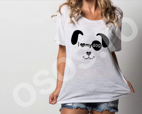 Tricou damă personalizat - I love my dog 0