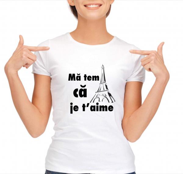 Tricou damă personalizat - Mă tem că je t'aime 0