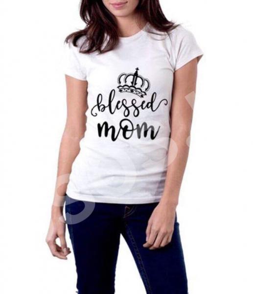 Tricou damă - Blessed mom 0