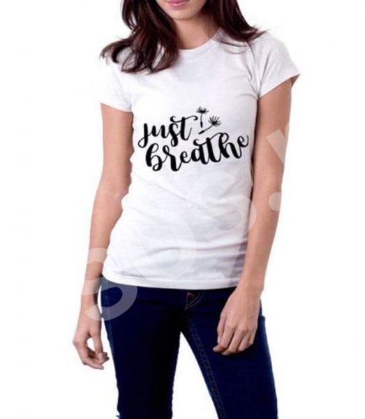 Tricou damă - Just breathe 0