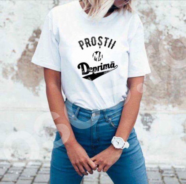 Tricou damă - Proştii mă deprimă 0
