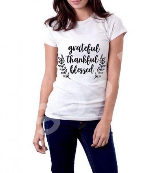 Tricou damă - Grateful Thankful Blessed 0