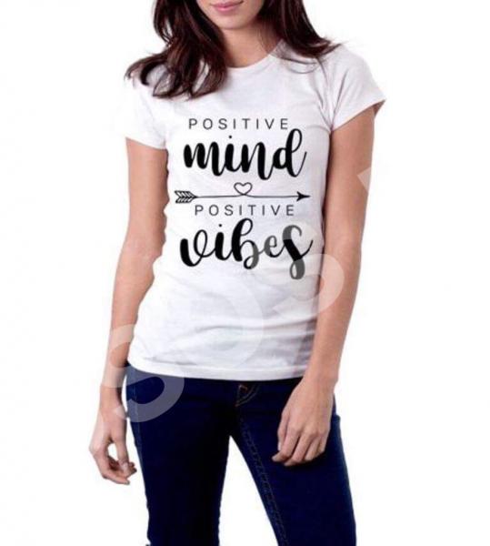 Tricou damă - Positive mind Positive vibes 0